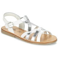 Topánky Dievčatá Sandále Citrouille et Compagnie IMONGI Biela / Strieborná
