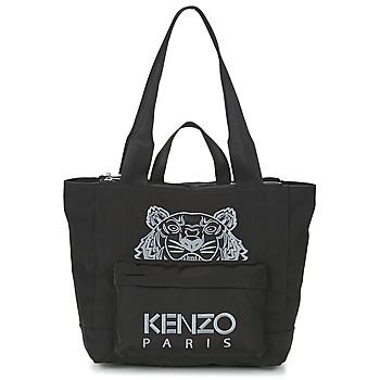 Tašky Ženy Veľké nákupné tašky  Kenzo KANVAS TIGER TOTE LARGE Čierna