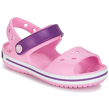 Topánky Dievčatá Sandále Crocs Crocband Sandal Kids Carnation / Ružová / Fialová