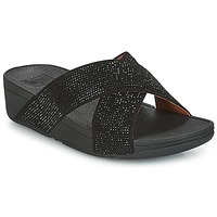 Topánky Ženy Šľapky FitFlop CRYSTAL II SLIDE SANDALS Čierna