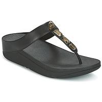 Topánky Ženy Žabky FitFlop ROKA TOE-THONG SANDALS Čierna