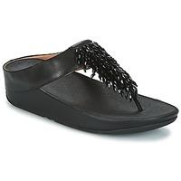 Topánky Ženy Žabky FitFlop CHA-CHA TOE-THONG SANDALS CRYSTAL Čierna