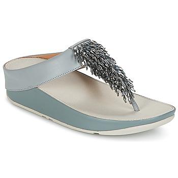 Topánky Ženy Žabky FitFlop CHA-CHA TOE-THONG SANDALS CRYSTAL Modrá