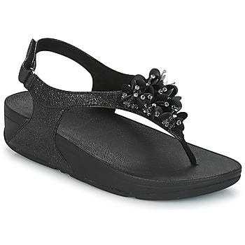 Topánky Ženy Sandále FitFlop BOOGALOO BACK STRAP SANDAL Čierna