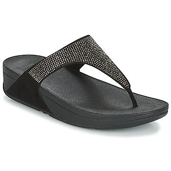 Topánky Ženy Žabky FitFlop SLINKY ROKKIT Čierna