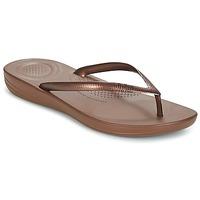 Topánky Ženy Žabky FitFlop IQUSHION ERGONOMIC FLIP FLOPS Bronzová