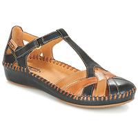 Topánky Ženy Sandále Pikolinos P. VALLARTA 655 Námornícka modrá / Ťavia hnedá