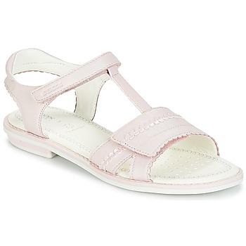 Topánky Dievčatá Sandále Geox J S.GIGLIO A Ružová