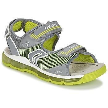 Topánky Chlapci Športové sandále Geox J S.ANDROID B.A Šedá / Zelená