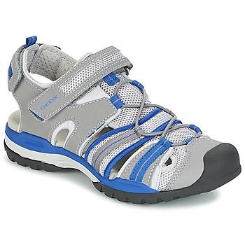 Topánky Chlapci Športové sandále Geox J BOREALIS B. C Šedá / Modrá