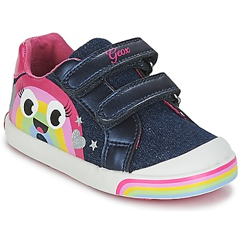 Topánky Dievčatá Nízke tenisky Geox B KILWI G. C Jeans / Ružová