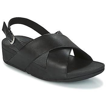 Topánky Ženy Sandále FitFlop LULU CROSS BACK-STRAP SANDALS - LEATHER Čierna