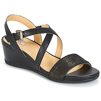 Topánky Ženy Sandále Geox MARYKARMEN A Čierna