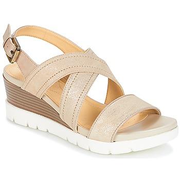 Topánky Ženy Sandále Geox MARYKARMEN P.B Zlatá / Béžová