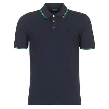 Oblečenie Muži Polokošele s krátkym rukávom Benetton MADURI Námornícka modrá
