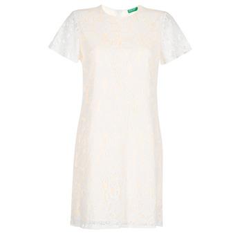 Oblečenie Ženy Krátke šaty Benetton PRISTOUC Biela