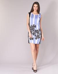 3145e16488d1 Oblečenie Ženy Krátke šaty Sisley LAPOLLA Modrá   Biela   Čierna