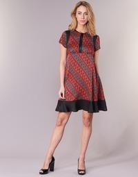 16405118e Oblečenie Ženy Krátke šaty Sisley ZEBRIOLO Červená / Čierna