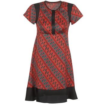 Oblečenie Ženy Krátke šaty Sisley ZEBRIOLO Červená / Čierna