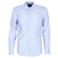 Oblečenie Muži Košele s dlhým rukávom Sisley KELAPSET Modrá