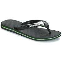 Topánky Žabky Havaianas BRAZIL LOGO Čierna