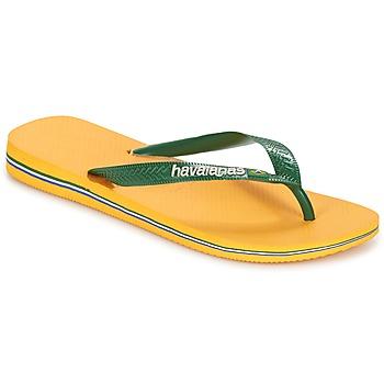 Topánky Žabky Havaianas BRAZIL LOGO Žltá