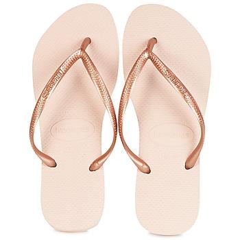 Topánky Ženy Žabky Havaianas SLIM Ružová / Zlatá