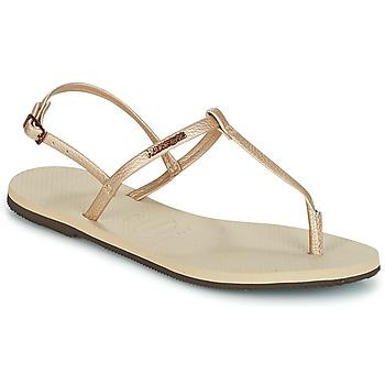 Topánky Ženy Sandále Havaianas YOU RIVIERA Béžová