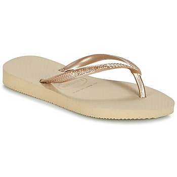 Topánky Dievčatá Žabky Havaianas SLIM Béžová