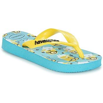 Topánky Chlapci Žabky Havaianas MINIONS Modrá / Žltá
