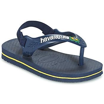 Topánky Chlapci Žabky Havaianas BABY BRASIL LOGO Námornícka modrá / Žltá
