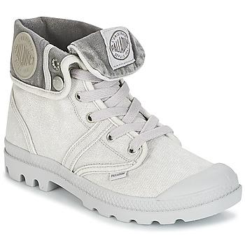 Topánky Ženy Polokozačky Palladium US BAGGY šedá / Metalická