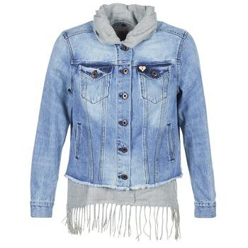 Oblečenie Ženy Džínsové bundy Scotch & Soda XAOUDE Modrá / Šedá