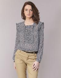 Oblečenie Ženy Blúzky Maison Scotch OLZAKD Čierna / Biela