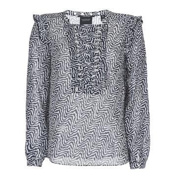 Oblečenie Ženy Blúzky Scotch & Soda OLZAKD Čierna / Biela