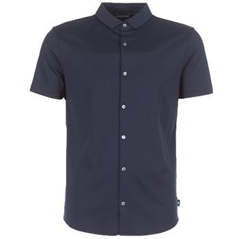 Oblečenie Muži Košele s krátkym rukávom Emporio Armani BEWU Námornícka modrá