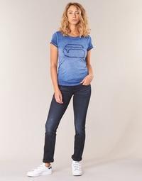 Oblečenie Ženy Rovné džínsy G-Star Raw MIDGE SADDLE MID STRAIGHT modrá