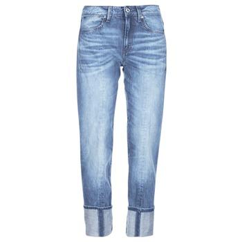 Oblečenie Ženy Džínsy 3/4 a 7/8 G-Star Raw LANC 3D HIGH STRAIGHT modrá