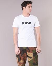 Oblečenie Muži Tričká s krátkym rukávom G-Star Raw HOLORN R T S/S Biela