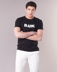 Oblečenie Muži Tričká s krátkym rukávom G-Star Raw HOLORN R T S/S Čierna