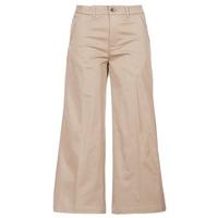 Oblečenie Ženy Nohavice Chinos a Carrot G-Star Raw BRONSON HIGH LOOSE CHINO 7/8 WMN Béžová