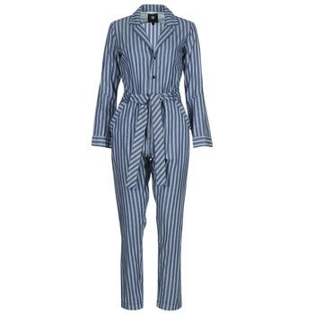 Oblečenie Ženy Módne overaly G-Star Raw DELINE JUMPSUIT WMN L/S Modrá / Biela