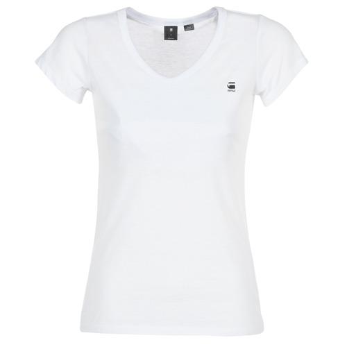 Oblečenie Ženy Tričká s krátkym rukávom G-Star Raw EYBEN SLIM V T WMN S/S Biela
