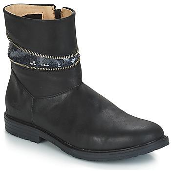Topánky Dievčatá Čižmičky GBB MAFALDA Čierna