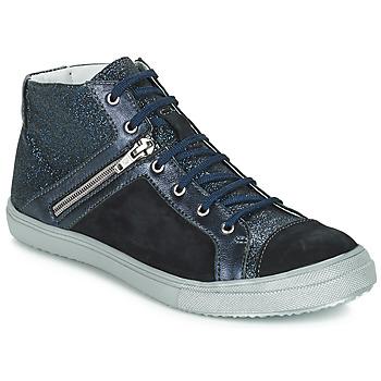 Topánky Dievčatá Čižmy do mesta GBB KAMI Námornícka modrá