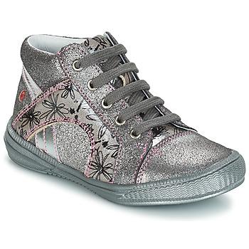 Topánky Dievčatá Polokozačky GBB ROSETTA Strieborná