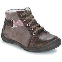 Topánky Dievčatá Polokozačky GBB RICHARDINE Hnedá / Bronzová