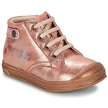 Topánky Dievčatá Polokozačky GBB REGINE Ružová