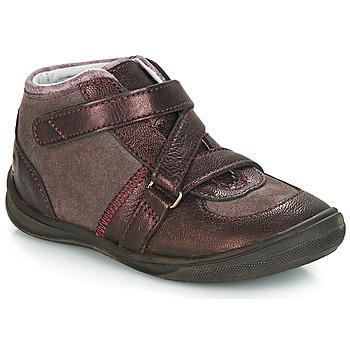 Topánky Dievčatá Polokozačky GBB RIQUETTE Hnedá / Bronzová