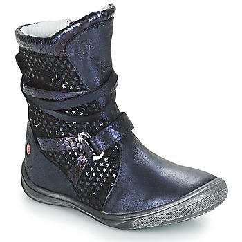 Topánky Dievčatá Čižmy do mesta GBB ROSANA Námornícka modrá